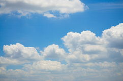 Sky and Cloud. On the bright. Background Texture and Pattern Royalty Free Stock Photography