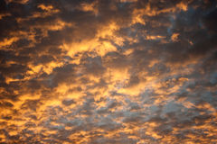 Sky and cloud in evening sunset Royalty Free Stock Photography