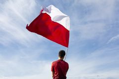 Sky, Cloud, Flag, Red Flag stock images