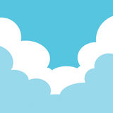 Sky with cloud frame Stock Photography