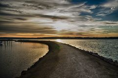Sky, Cloud, Horizon, Water Stock Photos