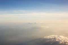 Sky and cloud. With light of evening. Airplane view. Stock Images