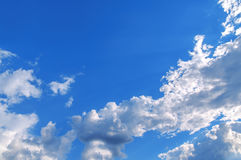 Sky and cloud like soft box and sun through shine. Close royalty free stock image