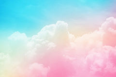 sky and cloud with pastel gradient color Royalty Free Stock Photography