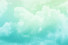 sky and cloud with pastel gradient color Stock Image