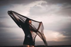 Sky, Cloud, People, Girl, Womoan Royalty Free Stock Photography