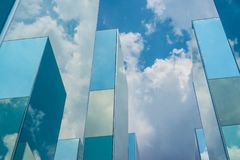 Sky cloud reflection on mirror Stock Image