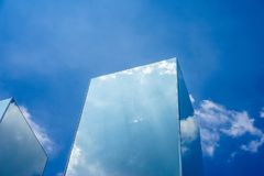 Sky cloud reflection on mirror Royalty Free Stock Image