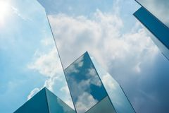 Sky cloud reflection on mirror Royalty Free Stock Images