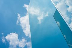 Sky cloud reflection on mirror Royalty Free Stock Photos