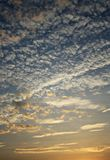 The sky and a cloud resemble tiny waves. In thailand Royalty Free Stock Photos