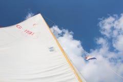 Sky, Cloud, Sail, Wind royalty free stock photos
