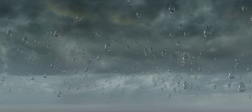 Sky cloud storm rain drop formation Stock Photos