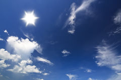 sky with cloud and sun bright Stock Image