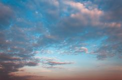 Sky and cloud before sun sets Royalty Free Stock Photos