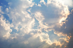 Sky cloud and sunlight Royalty Free Stock Images
