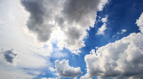 Sky cloud and sunlight Stock Images