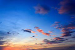 Sky with cloud at sunrise Royalty Free Stock Image
