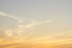 Sky and cloud sunset Stock Photography