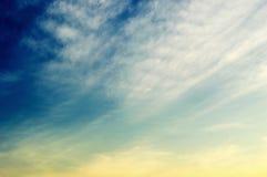 Sky cloud twilight background Royalty Free Stock Image
