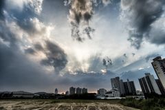 Sky, Cloud, Urban Area, Cityscape stock photo