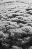 Sky and cloud view from airplane black and white concept. Stock Image