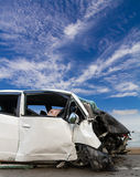 Sky cloud white car accident Royalty Free Stock Photography