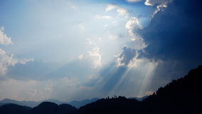 Sky and clouds. I saw a lot of clouds in the sky,it  covered the sun,it is very great,so I took a picture Stock Image