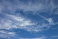 Sky with clouds. Summer skyscapes with white transparent clouds Royalty Free Stock Images