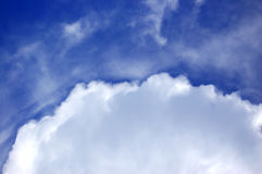 Sky and clouds. Blue sky and clouds Stock Photos