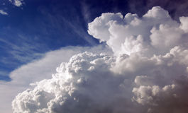 Sky and clouds. Blue sky and cluods Royalty Free Stock Photography