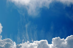 Sky and clouds. Blue sky and clouds useful for background stock photography