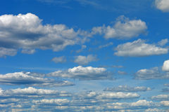 Sky with clouds. A blue sky with clouds Royalty Free Stock Image
