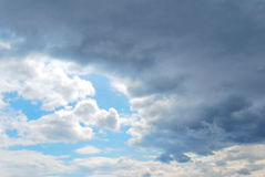 Sky and Clouds. Beautiful blue sky with clouds Stock Images