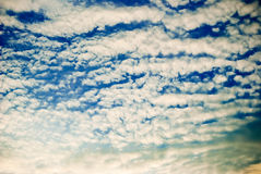 Sky with clouds. Sky with a lot of clouds Stock Image