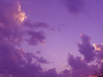Sky and clouds. Sunset Royalty Free Stock Image
