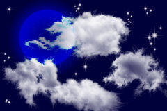 The sky and clouds Royalty Free Stock Photos