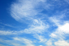 Sky with clouds. Blue sky with puffy white clouds Stock Photo