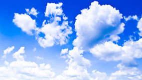 Sky with clouds. Bright cloudy skies will be common in Thailand Stock Photos