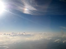 Sky clouds. Sky/cloud view from aeroplane Royalty Free Stock Photo