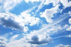 Sky with clouds stock photos