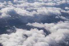 Sky and clouds. In the sky and in the clouds Stock Photos