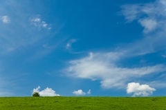 Sky with clouds. Summer landscape with blue sky and some clouds stock image