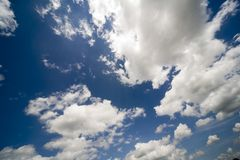 Sky and clouds royalty free stock images