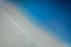 Sky and clouds from above. Horizontal picture of clouds in the sky seen from above Royalty Free Stock Image