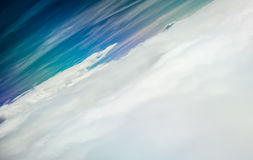 Sky and clouds from above. Horizontal picture of clouds in the sky seen from aboven Stock Images