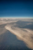 Sky and clouds from above. Vertical picture of clouds in the sky seen from above Royalty Free Stock Image