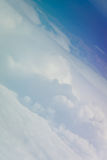 Sky and clouds from above. Vertical picture of clouds in the sky seen from above Royalty Free Stock Photo