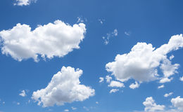 Sky clouds. Abstract background of blue sky with white clouds and rain clouds Stock Image