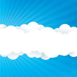 Sky With Clouds. An abstract sky design with fluffy clouds Stock Image